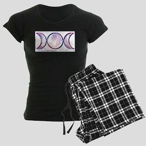 Triple Moon Goddess Women's Dark Pajamas