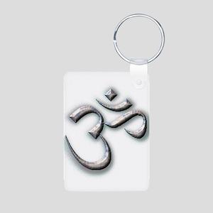Ohm Aluminum Photo Keychain