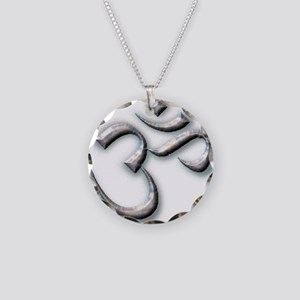 Ohm Necklace Circle Charm