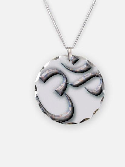 Ohm Necklace Circle Charm
