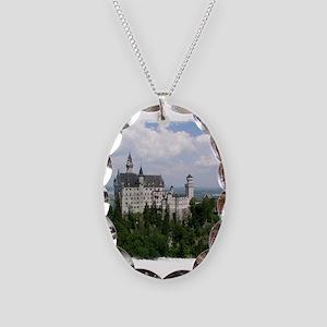 Neuschwanstein Castle Necklace Oval Charm