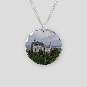 Neuschwanstein Castle Necklace Circle Charm
