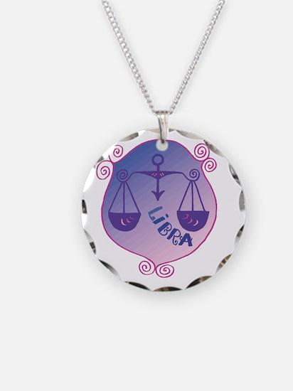 Cool Libra Zodiac Symbol Necklace