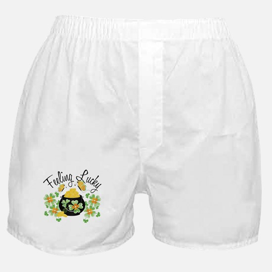 Feeling Lucky Pot of Gold Boxer Shorts