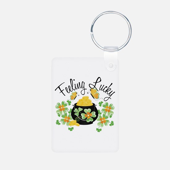 Feeling Lucky Pot of Gold Keychains
