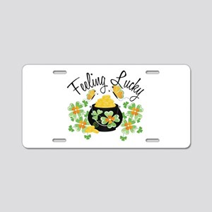 Feeling Lucky Pot of Gold Aluminum License Plate