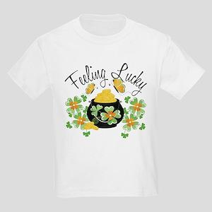 Feeling Lucky Pot of Gold Kids Light T-Shirt