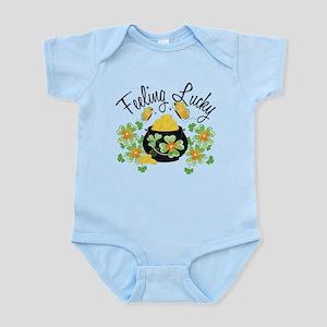 Feeling Lucky Pot of Gold Infant Bodysuit