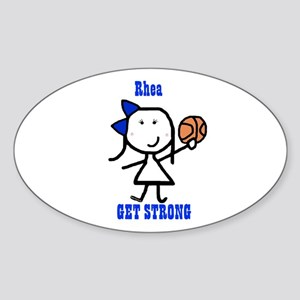 Basketball: Rhea Oval Sticker