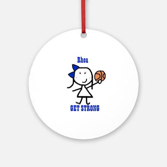 Basketball: Rhea Ornament (Round)