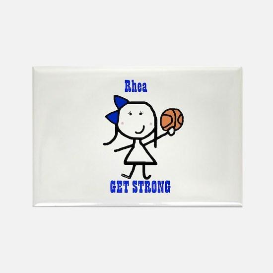 Basketball: Rhea Rectangle Magnet