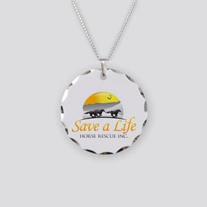 Save A Life Horse Rescue Necklace Circle Charm
