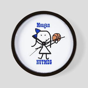 Basketball: Meagan Wall Clock