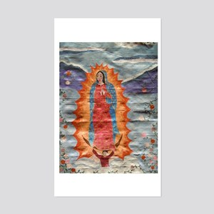 Our Lady of Guadalupe (Papyrus Ver.) Sticker (Rect