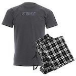Streamapse Magazine Men's Charcoal Pajamas