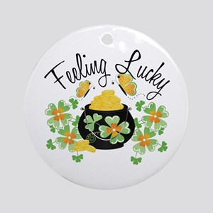 Feeling Lucky Pot of Gold Ornament (Round)