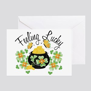 Feeling Lucky Pot of Gold Greeting Card