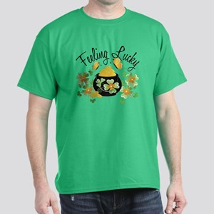 Feeling Lucky Pot of Gold Dark T-Shirt