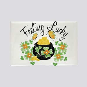 Feeling Lucky Pot of Gold Rectangle Magnet