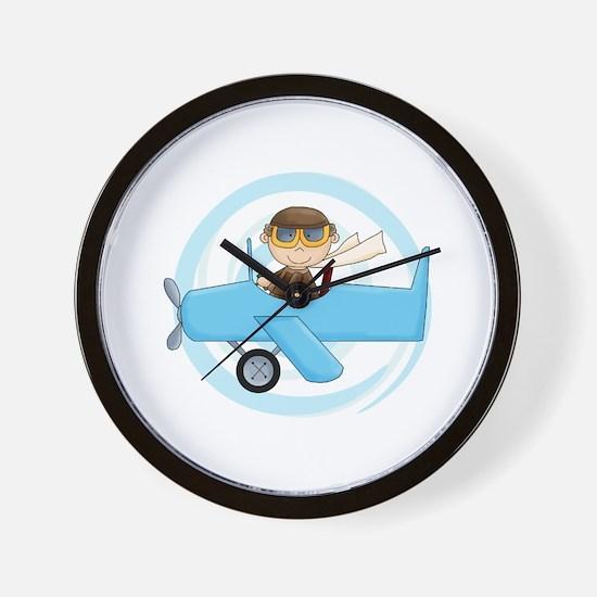 Boy Pilot Wall Clock