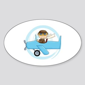 Boy Pilot Sticker (Oval)