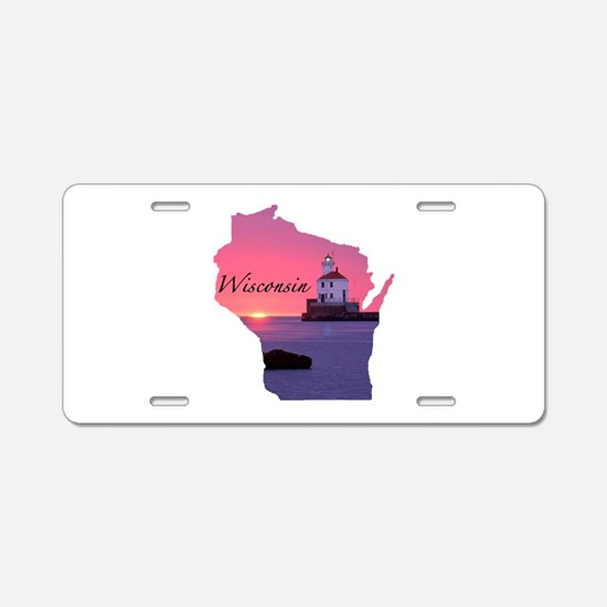 Wisconsin lighthouse Aluminum License Plate