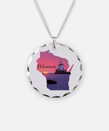 Wisconsin lighthouse Necklace