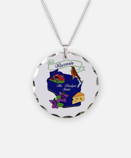 Wisconsin state Necklace