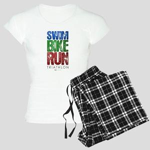 Swim, Bike, Run - Triathlon Women's Light Pajamas
