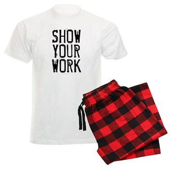 Show Your Work Men's Light Pajamas