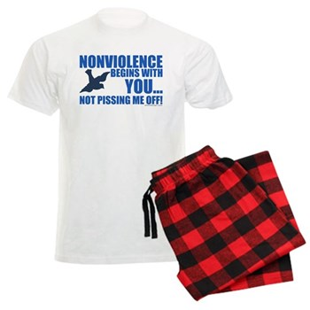 Nonviolence Begins with You.. Men's Light Pajamas