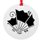 Butterfly-shaped fans Ornament