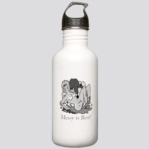 Messy Chicks are Best! Stainless Water Bottle 1.0L