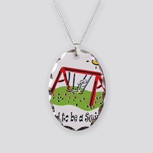 Proud to be a Swinger! Necklace Oval Charm