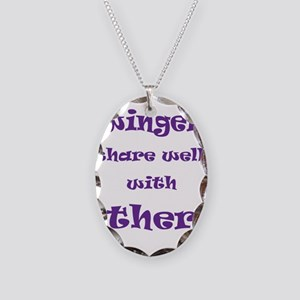 Swingers Share Well With Othe Necklace Oval Charm