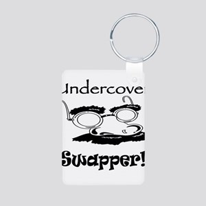 Undercover Swapper! Aluminum Photo Keychain