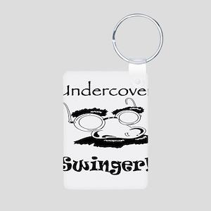 Undercover Swinger! Aluminum Photo Keychain