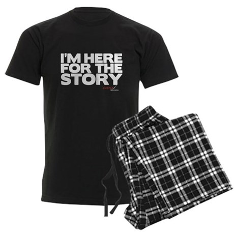 I'm Just Here for the Story Men's Dark Pajamas
