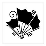 Butterfly-shaped fans Square Car Magnet 3