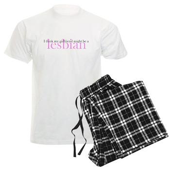 Girlfriend Might Be a Lesbian Men's Light Pajamas