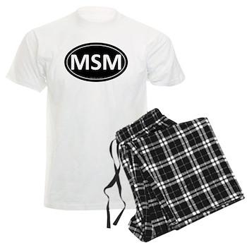 MSM Black Euro Oval Men's Light Pajamas