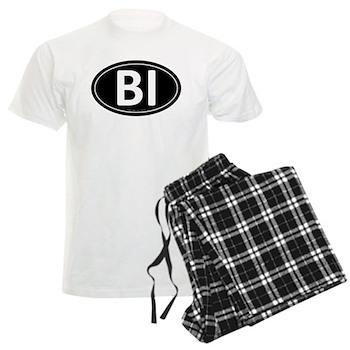 BI Black Euro Oval Men's Light Pajamas