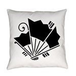 Butterfly-shaped fans Everyday Pillow