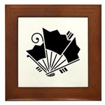 Butterfly-shaped fans Framed Tile