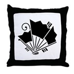 Butterfly-shaped fans Throw Pillow