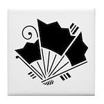 Butterfly-shaped fans Tile Coaster