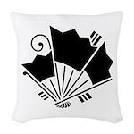Butterfly-shaped fans Woven Throw Pillow