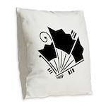 Butterfly-shaped fans Burlap Throw Pillow