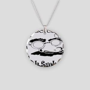 Undercover Cock Sucker Necklace Circle Charm