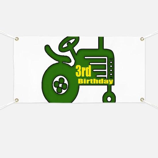 3rd Birthday Banner
